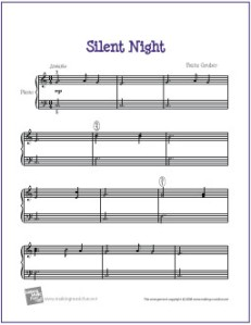 Intermediate piano sheet music christmas